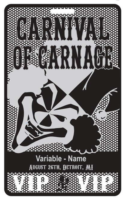 Carnival of Carnage Metal Ticket Concept